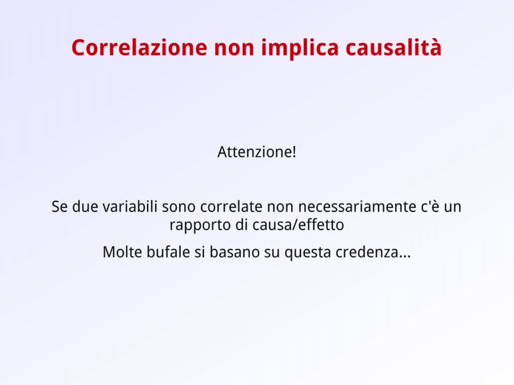 Correlazione non implica causalità